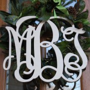 18 Inch Classic Triple Letter Wood Monogram