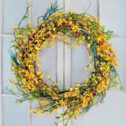 24 Inch Fosythia Wreath
