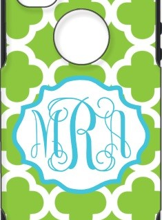 Otterbox Apple Green Quatrefoil Turquoise Hollow Vintage Frame