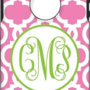 Otterbox Bubblegum Chain Apple Green Open Circle Vine Monogram