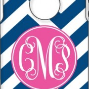 Otterbox Navy Chevron Fuschia Solid Circle Vine Monogram