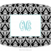 Madison Damask Personalized Platter