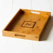 Engraved Bamboo Serving Tray DoubleSquare