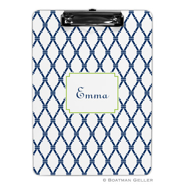 Monogram Clipboard Bamboo Navy