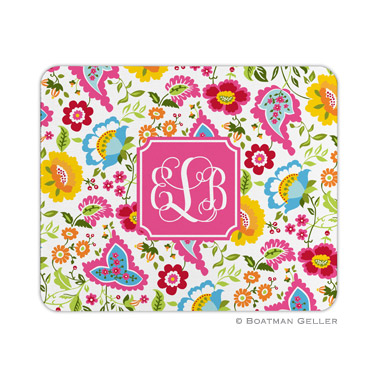 Personalized Mouse Pad Bright Floral
