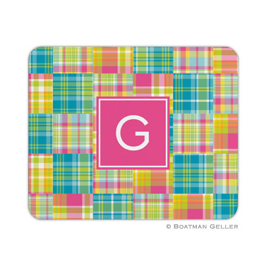 Personalized Mouse Pad Madras Patch Bright
