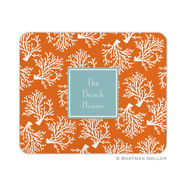 Personalized Mouse Pad Coral Repeat