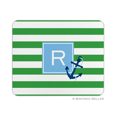 Personalized Mouse Pad Stripe Anchor