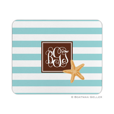 Personalized Mouse Pad Stripe Starfish