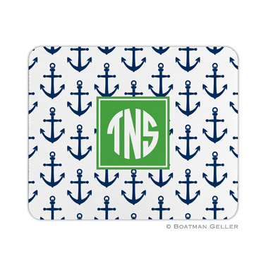 Personalized Mouse Pad Anchors Navy
