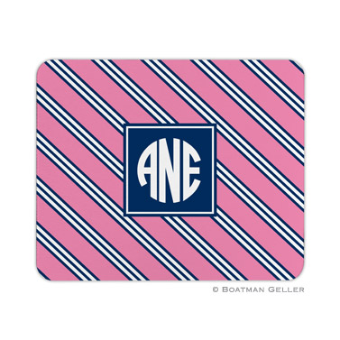 Personalized Mouse Pad Repp Tie Pink