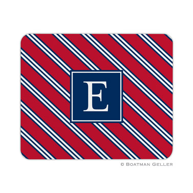 Personalized Mouse Pad Repp Tie Red