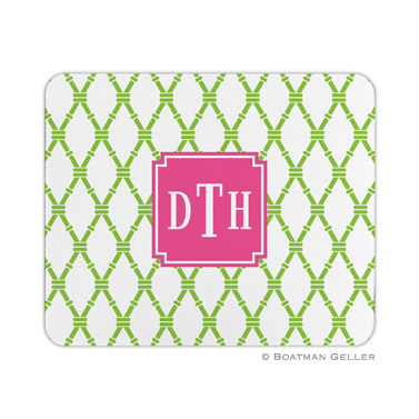 Personalized Mouse Pad Bamboo Green