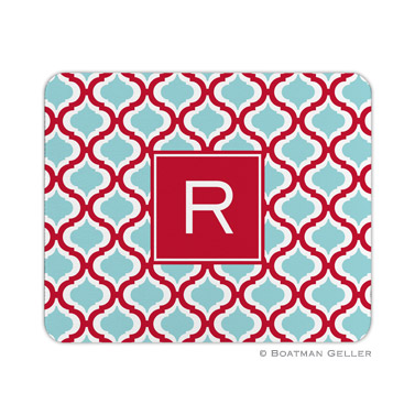 Personalized Mouse Pad Kate Red & Teal