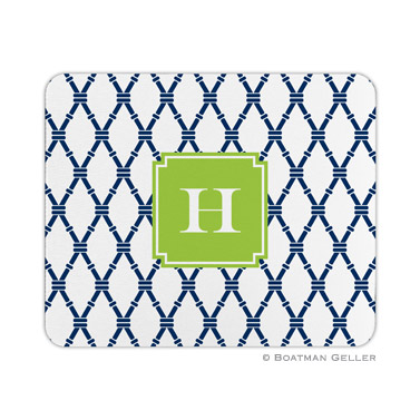 Personalized Mouse Pad Bamboo Navy