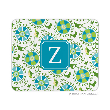Personalized Mouse Pad Suzani Teal