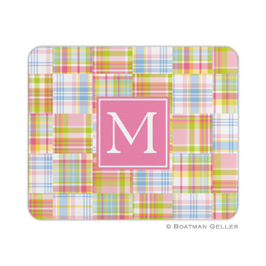 Personalized Mouse Pad Madras Pink
