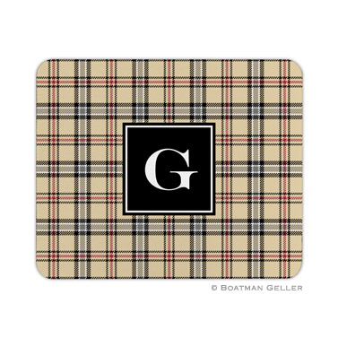 Personalized Mouse Pad Town Plaid