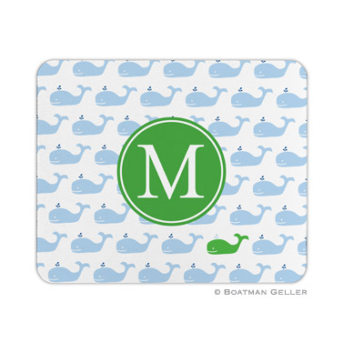 Personalized Mouse Pad Whale Repeat