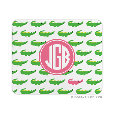 Personalized Mouse Pad Alligator Repeat