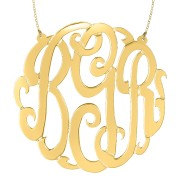Gold Script Monogram - Split Chain