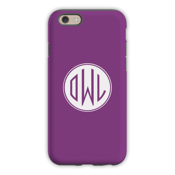 Monogram iPhone 6 / 6S / 6 Plus Case - Eggplant by Dabney Lee Circle