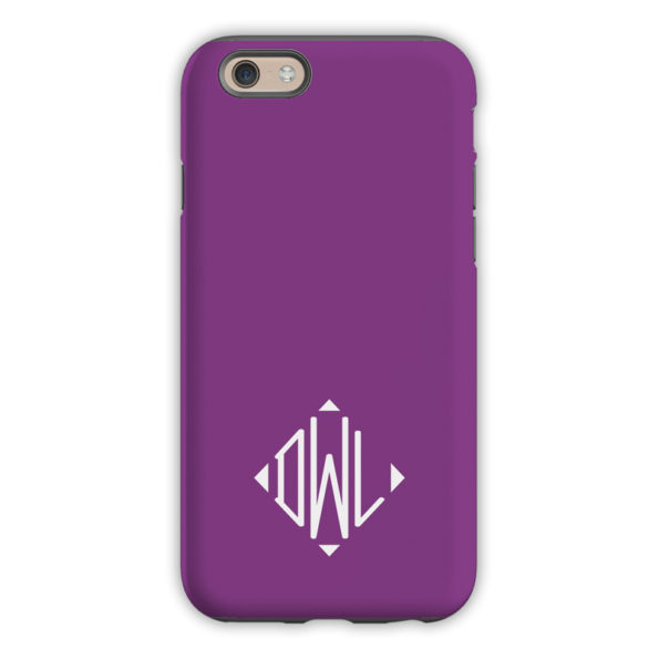 Monogram iPhone 6 / 6S / 6 Plus Case - Eggplant by Dabney Lee Diamond