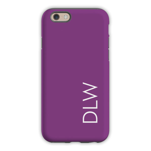 Monogram iPhone 6 / 6S / 6 Plus Case - Eggplant by Dabney Lee Block