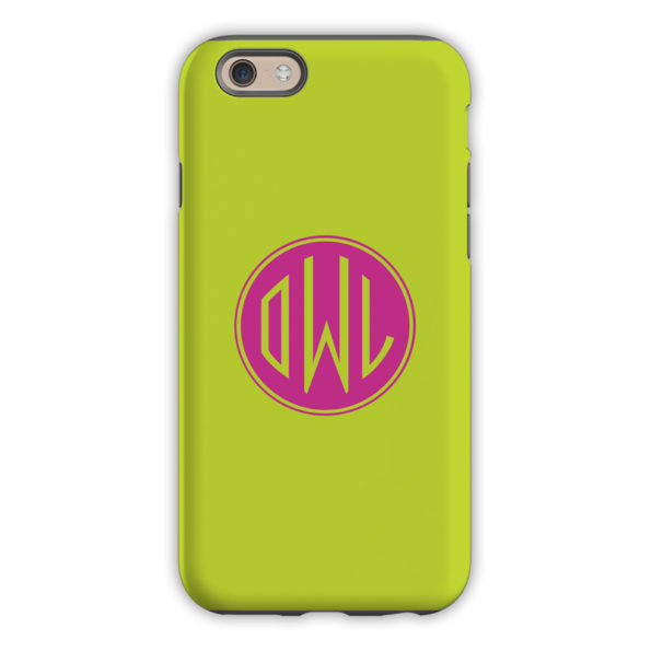 Monogram iPhone 6 / 6S / 6 Plus Case – Chartreuse by Dabney Lee Circle