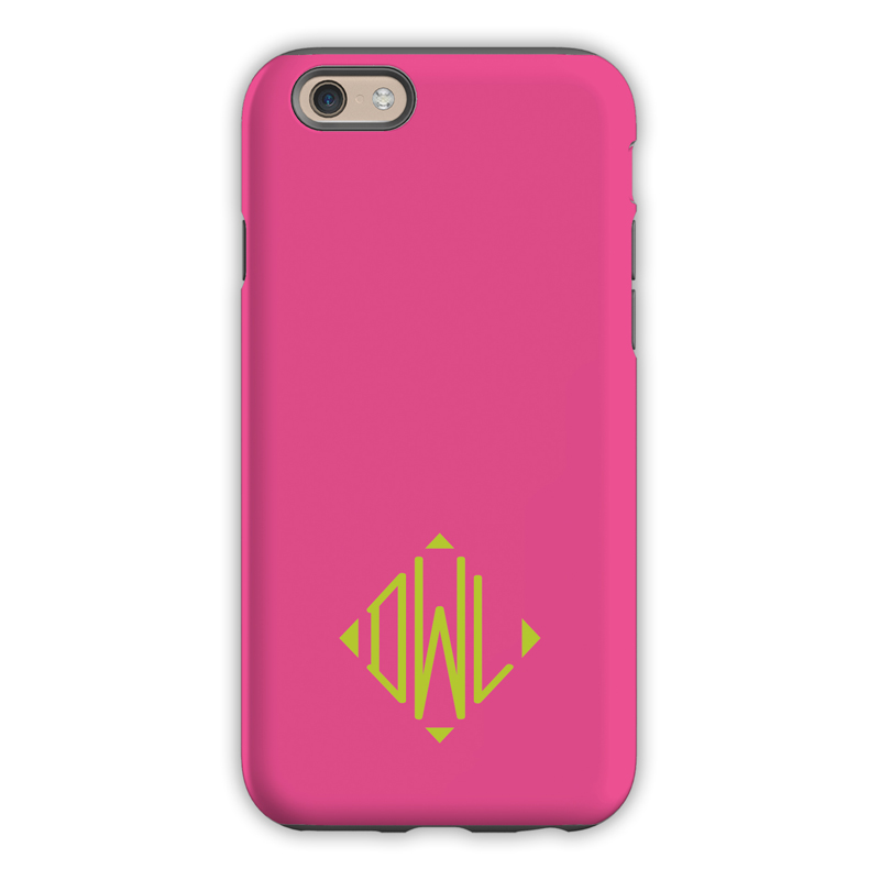 Monogram Iphone 6 6s 6 Plus Case Hot Pink By Dabney