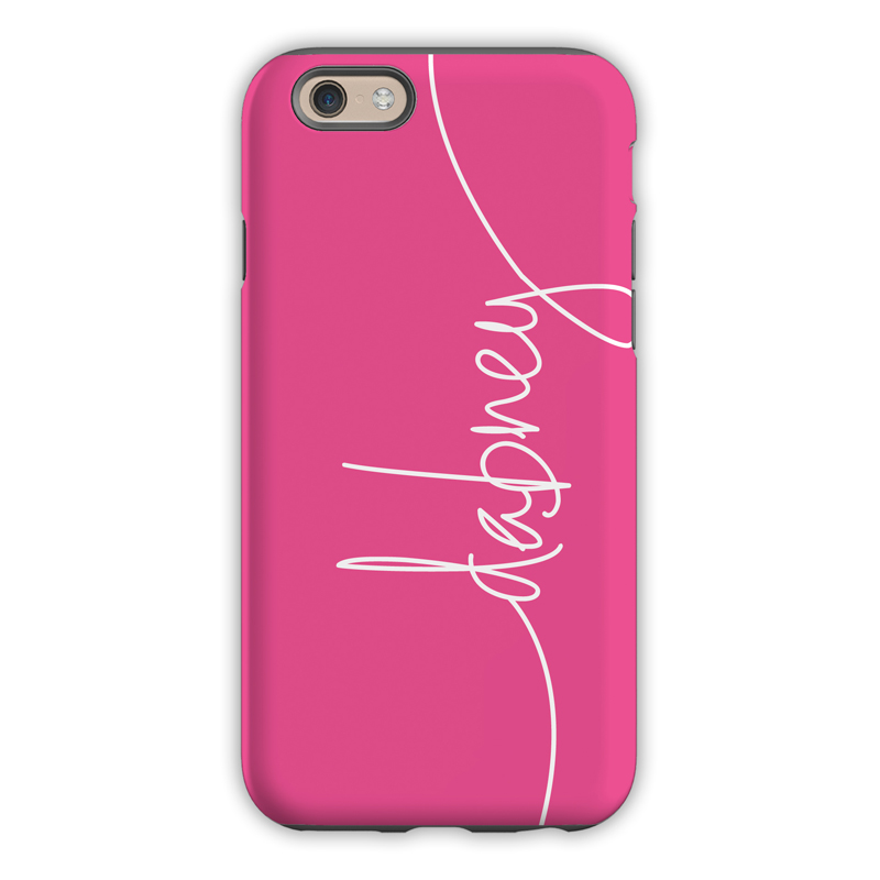 monogram iphone 6    6s    6 plus case  u2013 hot pink by dabney lee