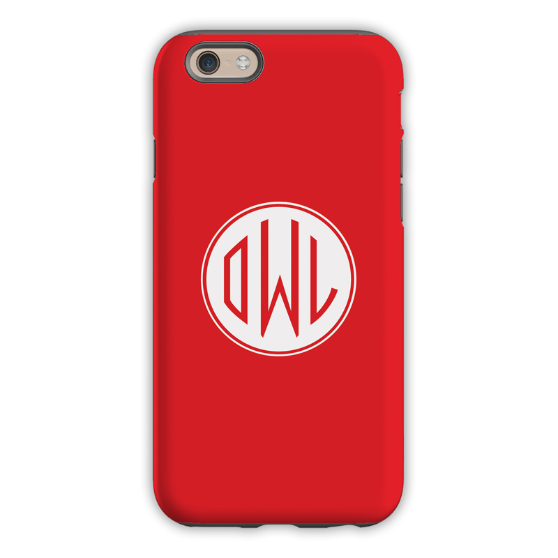 Monogram Iphone 6 6s 6 Plus Case Red By Dabney Lee