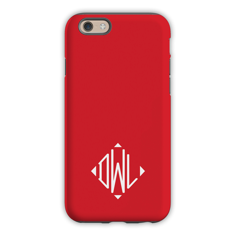 monogram iphone 6    6s    6 plus case  u2013 red by dabney lee