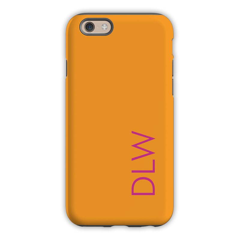Monogram Iphone 6 6s 6 Plus Case Tangerine By Dabney
