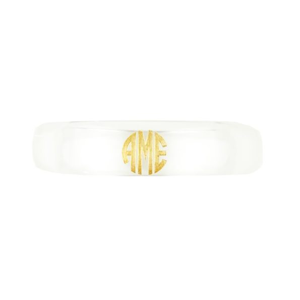 Everly Monogram Bangle - Crystal