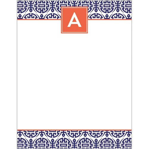 Happiness Monogram Notepads by WH Hostess Navy