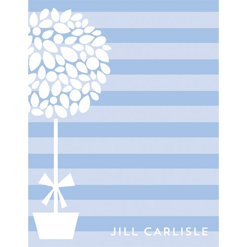 Topiary Personalized Notepads by WH Hostess Cornflower