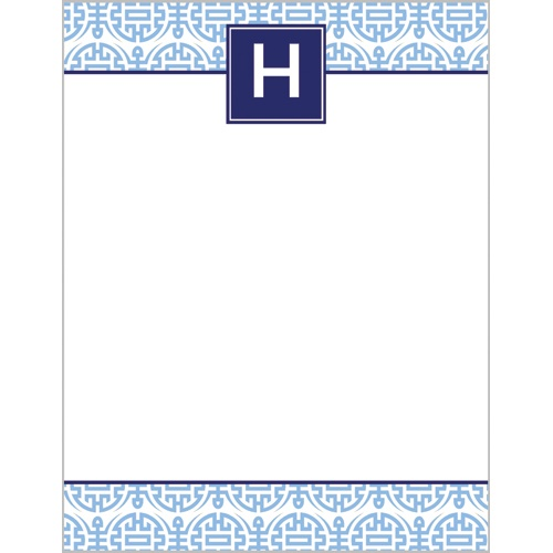 Happiness Monogram Notepads by WH Hostess Cornflower