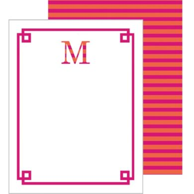 Striped Letters Hot Pink