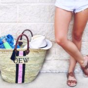 Beach Tote Navy & Pink