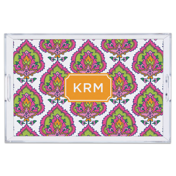 Monogram Lucite Tray Cora Summer