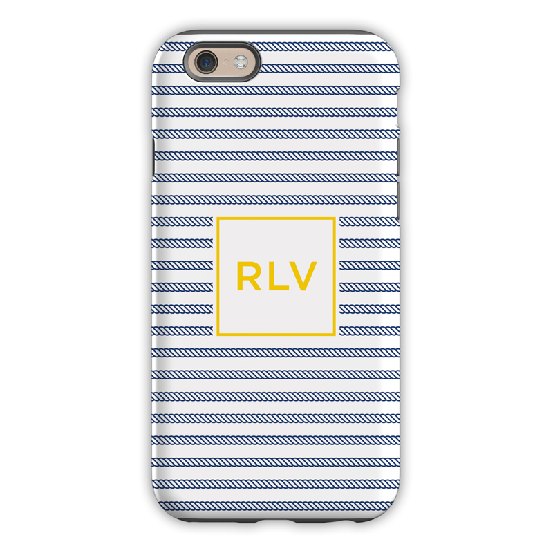 Monogram Iphone 6 6s 6 Plus Case Rope Stripe Navy By