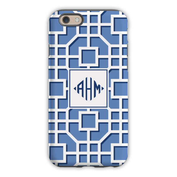 Monogram iPhone 6 / 6S / 6 Plus Case - Fret Navy