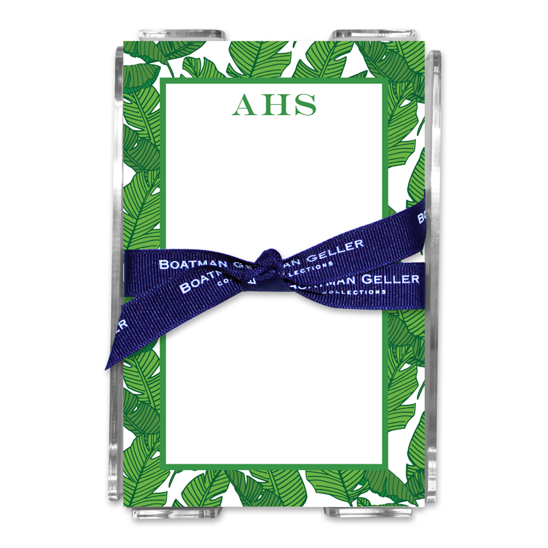Personalized Note Sheets in Acrylic