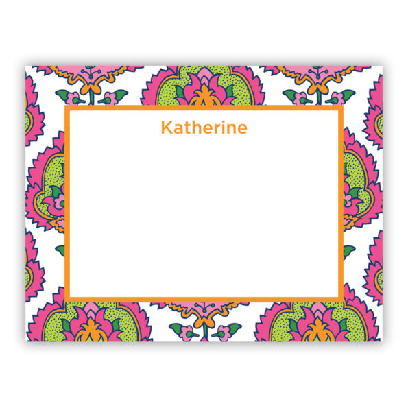 Personalized Flat Note Cards Cora Summer