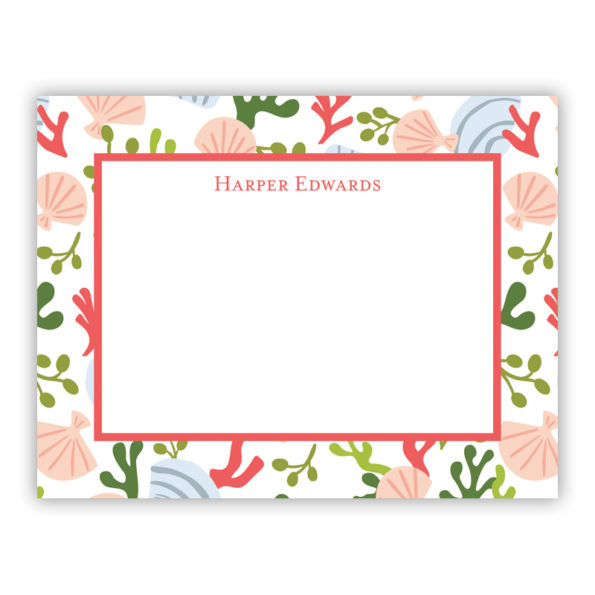 Personalized Flat Note Cards Beachcomber
