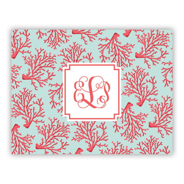Personalized Folded Note Cards Reef