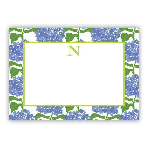 Personalized Flat Note Cards Sconset Blue