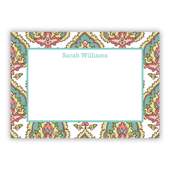 Personalized Flat Note Cards Cora Spring