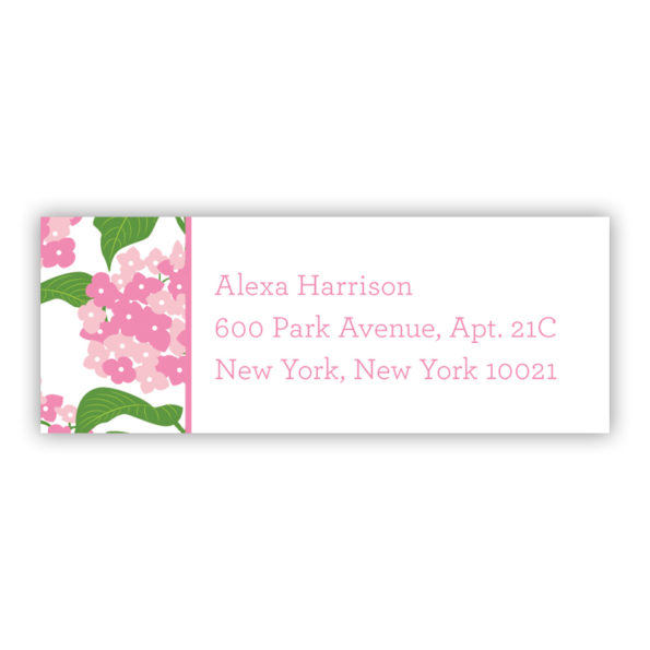 Personalized Address Labels Sconset Pink